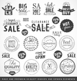 Sale Design Elements and Premium Quality Badges vector image