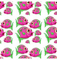 seamless pattern tile cartoon with pink purple vector image vector image