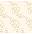seamless pattern with abstract floral design vector image vector image
