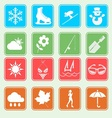 season weather and activity icon vector image vector image