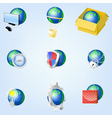Set of globe icons showing earth EPS10 vector image vector image