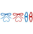 shoelaces tied in knot and bow shoe ropes vector image