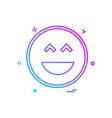 smiley icon design vector image