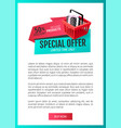 special offer shop natural product guarantee vector image vector image