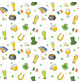 st patricks day hand drawn doodle seamless vector image