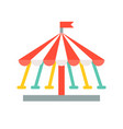swing ride icon amusement park related flat style vector image vector image
