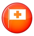 Switzerland flag icon flat style vector image vector image