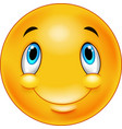 thinking emoticon smiley vector image vector image