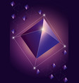 trendy cosmic crystal vector image