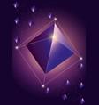 trendy cosmic crystal vector image vector image