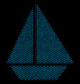 yacht collage icon of halftone spheres vector image vector image