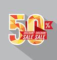 50 Percent Discount vector image