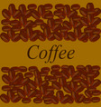 coffee beans on brown background vector image