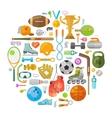 sport logo design template gym or fitness vector image