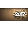 2017 New Year golden banner vector image vector image