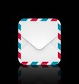 Air mail envelope icon vector image