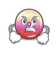 angry jelly ring candy mascot cartoon vector image vector image