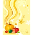 Autumn food background with pumpkin icon vector image vector image