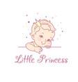 baby girl as princess logo for baproduct