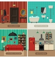 Basic rooms of apartment vector image vector image