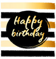 birthday postcard gold glitter vector image vector image