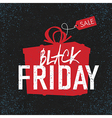black friday black background gift box vector image vector image
