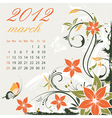 calendar for 2012 march vector image