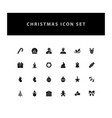 christmas icon set with glyph style design vector image