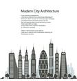 City Financial Center Poster vector image vector image