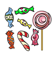 Collection of different doodle candy vector image vector image