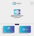 construction architect logo design icon element vector image vector image