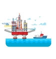 Drilling rig at sea vector image vector image