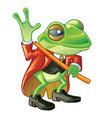 frog in suit vector image vector image