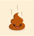 funny cartoon poop vector image vector image