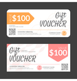 Gift voucher template eps10 format vector image vector image