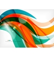Green and orange lines modern abstract background vector image vector image
