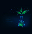 green chemistry concept with glowing chemical vector image