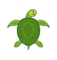 green sea turtle icon vector image vector image