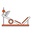 gym machines flat vector image vector image