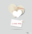 I LOVE YOU dripping blood vector image