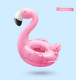 inflatable toy flamingo 3d realistic object vector image