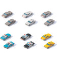 isometric cars set vector image