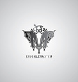knuckle logo template vector image