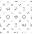 loud icons pattern seamless white background vector image vector image
