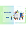magazine website landing page design vector image vector image