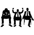 men on chair vector image vector image