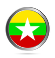 Myanmar flag button vector image vector image