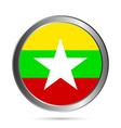 Myanmar flag button vector image vector image