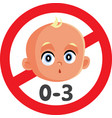 not suitable for children under 3 years sign vector image