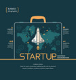 on theme start up with shuttle vector image vector image